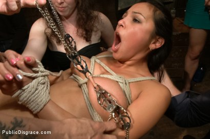Photo number 9 from Big Booty Latina Tied and Fucked at Party shot for Public Disgrace on Kink.com. Featuring Lorelei Lee, Adrianna Luna and Mr. Pete in hardcore BDSM & Fetish porn.