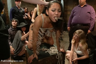 Photo number 11 from Big Booty Latina Tied and Fucked at Party shot for Public Disgrace on Kink.com. Featuring Lorelei Lee, Adrianna Luna and Mr. Pete in hardcore BDSM & Fetish porn.