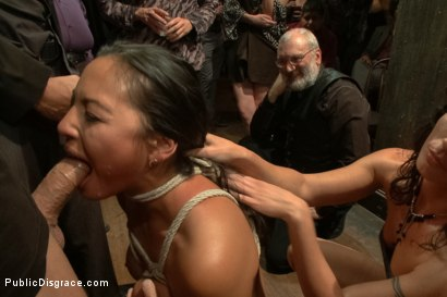 Photo number 4 from Big Booty Latina Tied and Fucked at Party shot for Public Disgrace on Kink.com. Featuring Lorelei Lee, Adrianna Luna and Mr. Pete in hardcore BDSM & Fetish porn.