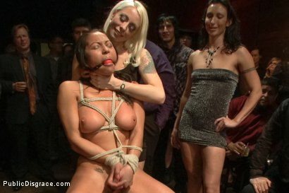 Photo number 1 from Big Booty Latina Tied and Fucked at Party shot for Public Disgrace on Kink.com. Featuring Lorelei Lee, Adrianna Luna and Mr. Pete in hardcore BDSM & Fetish porn.