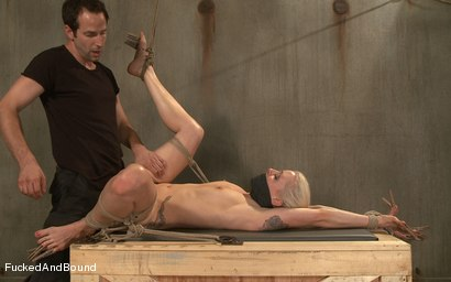 Photo number 11 from Breaking the Blonde Beauty shot for  on Kink.com. Featuring Maestro and Lorelei Lee in hardcore BDSM & Fetish porn.