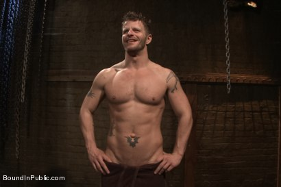 Photo number 15 from Lockup, Cell Extraction & Prison Gang Fuck  shot for Bound in Public on Kink.com. Featuring Jeremy Stevens, Hayden Richards and Connor Maguire in hardcore BDSM & Fetish porn.