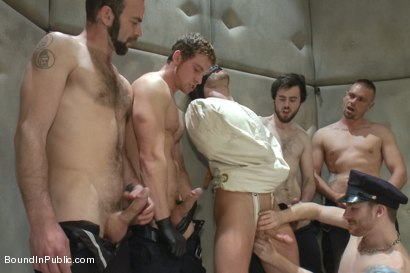 Photo number 3 from Lockup, Cell Extraction & Prison Sex - Part Two shot for Bound in Public on Kink.com. Featuring Jeremy Stevens, Hayden Richards and Connor Maguire in hardcore BDSM & Fetish porn.