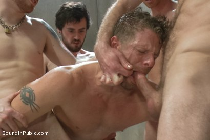 Photo number 6 from Lockup, Cell Extraction & Prison Sex - Part Two shot for Bound in Public on Kink.com. Featuring Jeremy Stevens, Hayden Richards and Connor Maguire in hardcore BDSM & Fetish porn.