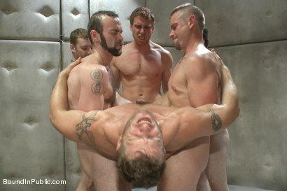 Photo number 9 from Lockup, Cell Extraction & Prison Sex - Part Two shot for Bound in Public on Kink.com. Featuring Jeremy Stevens, Hayden Richards and Connor Maguire in hardcore BDSM & Fetish porn.