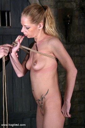 Photo number 1 from Rope Bondage Tutorial - Learn how to tie Suspension!  shot for Hogtied on Kink.com. Featuring Livia Choice and Lew Rubens in hardcore BDSM & Fetish porn.