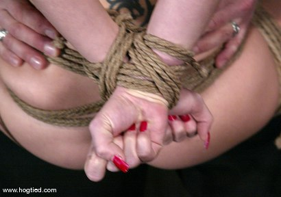 Photo number 7 from Rope Bondage Tutorial - Learn how to tie Suspension!  shot for Hogtied on Kink.com. Featuring Livia Choice and Lew Rubens in hardcore BDSM & Fetish porn.