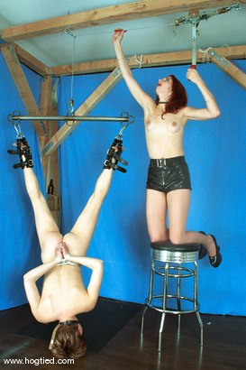 Photo number 2 from Ivy and Sadie shot for Hogtied on Kink.com. Featuring Ivy and Sadie in hardcore BDSM & Fetish porn.