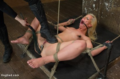 Photo number 2 from Tara Lynn Foxx is INSATIABLE shot for Hogtied on Kink.com. Featuring Tara Lynn Foxx in hardcore BDSM & Fetish porn.
