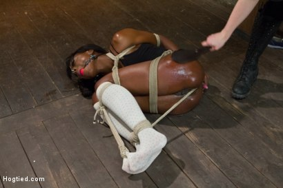 Photo number 6 from Former Runway Model Tamed - Ana Foxxx shot for Hogtied on Kink.com. Featuring Ana Foxxx in hardcore BDSM & Fetish porn.