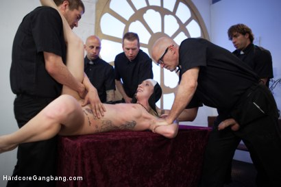 Photo number 8 from Petite Blonde Lives out Fantasy: Nun Gangbanged by 5 Priests in Chapel shot for Hardcore Gangbang on Kink.com. Featuring Xander Corvus, Maia Davis, Astral Dust, Nick Jacobs, Mark Davis and Mark Wood in hardcore BDSM & Fetish porn.