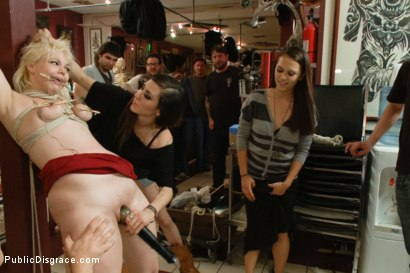 Photo number 6 from  Property of princess Donna shot for Public Disgrace on Kink.com. Featuring Alice Frost and Bruce Venture in hardcore BDSM & Fetish porn.