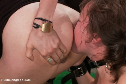Photo number 13 from Puppy love! Chubby pet turned obedient bitch. shot for Public Disgrace on Kink.com. Featuring Alexxa Bound and Astral Dust in hardcore BDSM & Fetish porn.