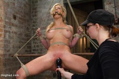 Photo number 8 from Cherie Deville - Hawt Blonde Gets Pounded shot for Hogtied on Kink.com. Featuring Cherie DeVille in hardcore BDSM & Fetish porn.