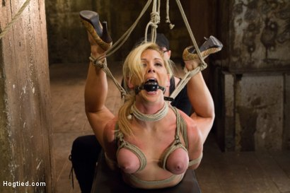 Photo number 2 from Cherie Deville - Hawt Blonde Gets Pounded shot for Hogtied on Kink.com. Featuring Cherie DeVille in hardcore BDSM & Fetish porn.