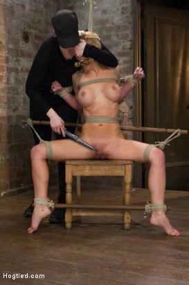 Photo number 9 from Cherie Deville - Hawt Blonde Gets Pounded shot for Hogtied on Kink.com. Featuring Cherie DeVille in hardcore BDSM & Fetish porn.