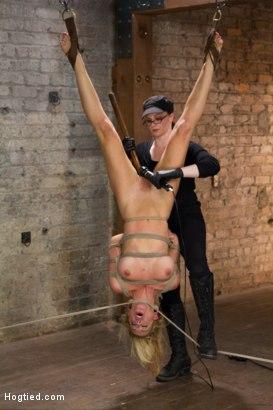 Photo number 14 from Cherie Deville - Hawt Blonde Gets Pounded shot for Hogtied on Kink.com. Featuring Cherie DeVille in hardcore BDSM & Fetish porn.