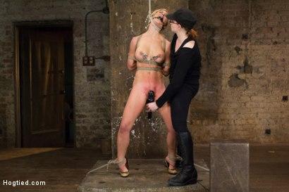 Photo number 4 from Cherie Deville - Hawt Blonde Gets Pounded shot for Hogtied on Kink.com. Featuring Cherie DeVille in hardcore BDSM & Fetish porn.