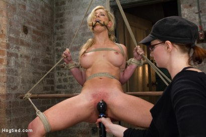 Photo number 8 from Cherie Deville - Hawt Blonde Gets Pounded shot for Hogtied on Kink.com. Featuring Cherie Deville in hardcore BDSM & Fetish porn.