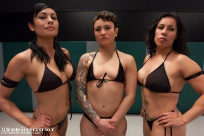 Photo number 14 from Team Dragon vs. Team Nightmare Match #2 for Season 10 shot for Ultimate Surrender on Kink.com. Featuring Izamar Gutierrez, Syd Blakovich, DragonLily, Beretta James, Serena Blair and Mistress Kara in hardcore BDSM & Fetish porn.
