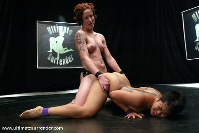 Photo number 15 from The Dragon (6-0) vs. The Pirate (6-1) shot for Ultimate Surrender on Kink.com. Featuring DragonLily and Nina in hardcore BDSM & Fetish porn.