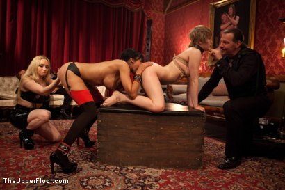 Photo number 13 from Psycho Lesbian Party Night shot for The Upper Floor on Kink.com. Featuring Aiden Starr, Alani Pi and Beretta James in hardcore BDSM & Fetish porn.