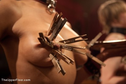 Photo number 6 from Psycho Lesbian Party Night shot for The Upper Floor on Kink.com. Featuring Aiden Starr, Alani Pi and Beretta James in hardcore BDSM & Fetish porn.