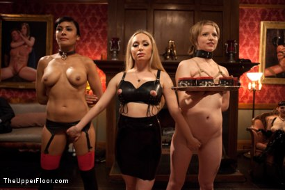 Photo number 1 from Psycho Lesbian Party Night shot for The Upper Floor on Kink.com. Featuring Aiden Starr, Alani Pi and Beretta James in hardcore BDSM & Fetish porn.