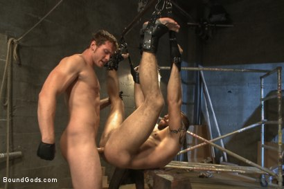 Photo number 12 from Rogue Cop and The Hairy Biker shot for Bound Gods on Kink.com. Featuring Johnny Parker and Connor Maguire in hardcore BDSM & Fetish porn.