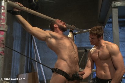 Photo number 5 from Rogue Cop and The Hairy Biker shot for Bound Gods on Kink.com. Featuring Johnny Parker and Connor Maguire in hardcore BDSM & Fetish porn.