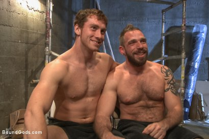 Photo number 15 from Rogue Cop and The Hairy Biker shot for Bound Gods on Kink.com. Featuring Johnny Parker and Connor Maguire in hardcore BDSM & Fetish porn.
