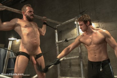Photo number 6 from Rogue Cop and The Hairy Biker shot for Bound Gods on Kink.com. Featuring Johnny Parker and Connor Maguire in hardcore BDSM & Fetish porn.