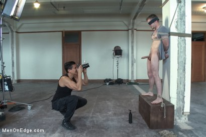 Photo number 4 from Straight stud edged to the extreme shot for Men On Edge on Kink.com. Featuring Steve Stiffer in hardcore BDSM & Fetish porn.