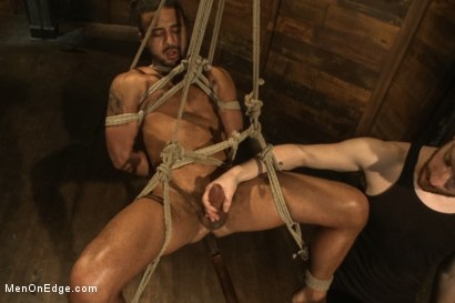 Photo number 12 from Bound Captured Stud Cums in Mid-air shot for Men On Edge on Kink.com. Featuring Damian Taylor in hardcore BDSM & Fetish porn.