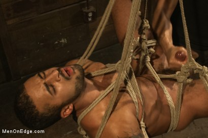 Photo number 14 from Bound Captured Stud Cums in Mid-air shot for Men On Edge on Kink.com. Featuring Damian Taylor in hardcore BDSM & Fetish porn.