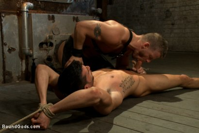 Photo number 6 from Straight stud taken from his girlfriend  shot for Bound Gods on Kink.com. Featuring Jeremy Stevens and Casey More in hardcore BDSM & Fetish porn.