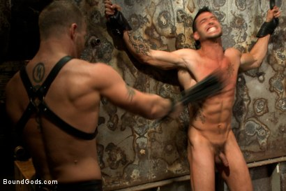 Photo number 8 from Straight stud taken from his girlfriend  shot for Bound Gods on Kink.com. Featuring Jeremy Stevens and Casey More in hardcore BDSM & Fetish porn.