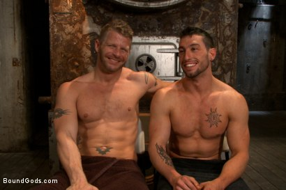 Photo number 14 from Straight stud taken from his girlfriend  shot for Bound Gods on Kink.com. Featuring Jeremy Stevens and Casey More in hardcore BDSM & Fetish porn.