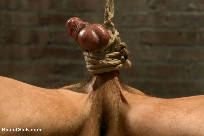 Photo number 5 from Straight stud taken from his girlfriend  shot for Bound Gods on Kink.com. Featuring Jeremy Stevens and Casey More in hardcore BDSM & Fetish porn.