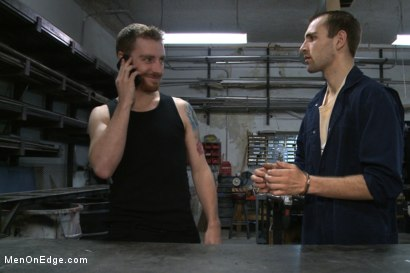 Photo number 1 from Straight stud gets tricked into having his cock edged shot for Men On Edge on Kink.com. Featuring Blake in hardcore BDSM & Fetish porn.