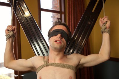 Photo number 4 from 19 Year Old Stud First Bound and Edged shot for Men On Edge on Kink.com. Featuring Andrew Collins in hardcore BDSM & Fetish porn.