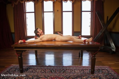 Photo number 10 from 19 Year Old Stud First Bound and Edged shot for Men On Edge on Kink.com. Featuring Andrew Collins in hardcore BDSM & Fetish porn.