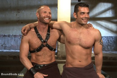 Photo number 15 from Bound Body Builder shot for Bound Gods on Kink.com. Featuring Alan Ladd and Marcus Ruhl in hardcore BDSM & Fetish porn.