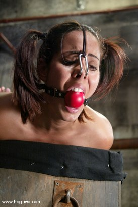 Photo number 11 from Lochai and Isis Love shot for Hogtied on Kink.com. Featuring Lochai and Isis Love in hardcore BDSM & Fetish porn.