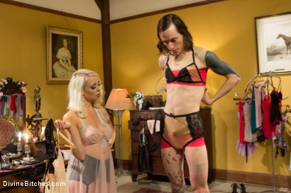 Photo number 3 from Just One Of the Girls: A sissy slut is born shot for Divine Bitches on Kink.com. Featuring Lorelei Lee and Owen Gray in hardcore BDSM & Fetish porn.