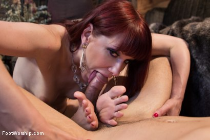 Photo number 4 from Size 8 1/2: Maitresse Madeline Gets Fucked! shot for Foot Worship on Kink.com. Featuring Maitresse Madeline Marlowe  and Ryan Driller in hardcore BDSM & Fetish porn.