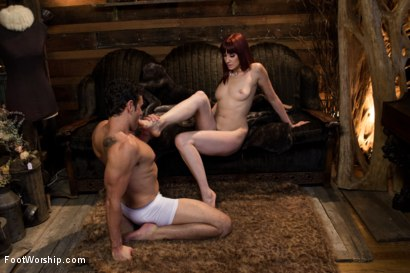 Photo number 7 from Size 8 1/2: Maitresse Madeline Gets Fucked! shot for Foot Worship on Kink.com. Featuring Maitresse Madeline Marlowe  and Ryan Driller in hardcore BDSM & Fetish porn.