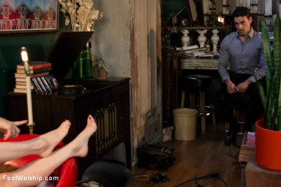 Photo number 9 from Size 8 1/2: Maitresse Madeline Gets Fucked! shot for Foot Worship on Kink.com. Featuring Maitresse Madeline Marlowe  and Ryan Driller in hardcore BDSM & Fetish porn.