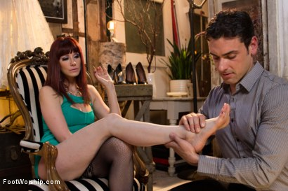 Photo number 2 from Size 8 1/2: Maitresse Madeline Gets Fucked! shot for Foot Worship on Kink.com. Featuring Maitresse Madeline Marlowe  and Ryan Driller in hardcore BDSM & Fetish porn.