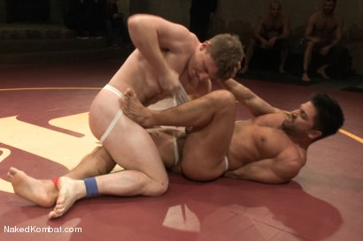 "Photo number 4 from Doug ""The Destroyer"" Acre vs Dominic ""The Dominator"" Pacifico  shot for Naked Kombat on Kink.com. Featuring Doug Acre and Dominic Pacifico in hardcore BDSM & Fetish porn."